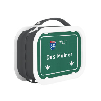 Des Moines Iowa ia Interstate Highway Freeway : Lunch Box