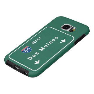 Des Moines Iowa ia Interstate Highway Freeway : Samsung Galaxy S6 Case