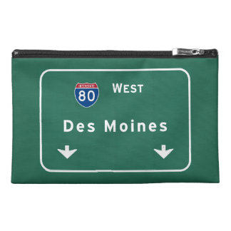 Des Moines Iowa ia Interstate Highway Freeway : Travel Accessory Bags
