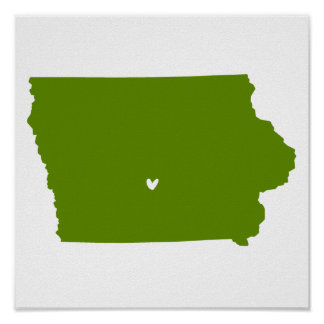 Des Moines, Iowa Love Print