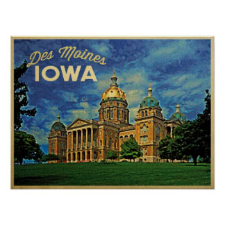 Des Moines Iowa Print