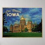 Des Moines Iowa Posters