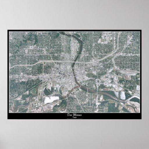 Des Moines, Iowa satellite poster