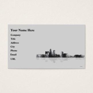 DES MOINES, IOWA SKYLINE BUSINESS CARD