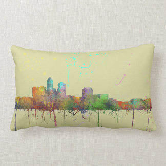 DES MOINES IOWA SKYLINE LUMBAR PILLOW