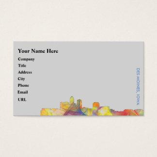 DES MOINES, IOWA SKYLINEWB1  - BUSINESS CARD