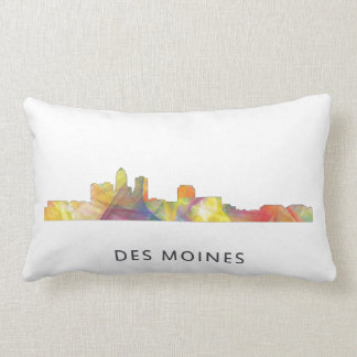 DES MOINES, IOWA SKYLINEWB1  - LUMBAR PILLOW