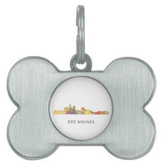 DES MOINES, IOWA SKYLINEWB1  - PET NAME TAG