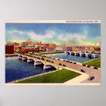 Des Moines River Des Moines, Iowa Poster
