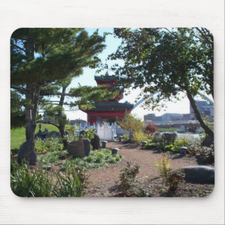 Des Moines River Front Chinese Garden Mouse Pad