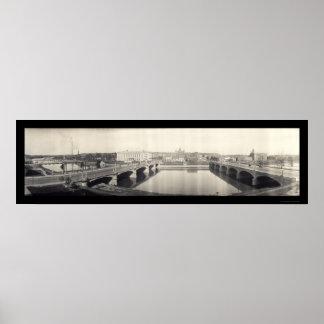 Des Moines River Photo 1914 Print