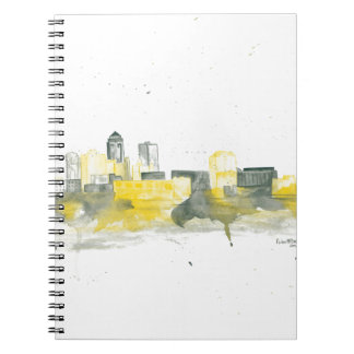 Des Moines Skyline Spiral Note Book