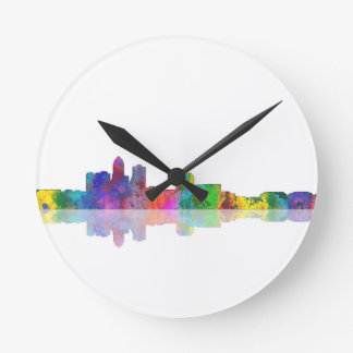 DES MOINES SKYLINE - Wall clock