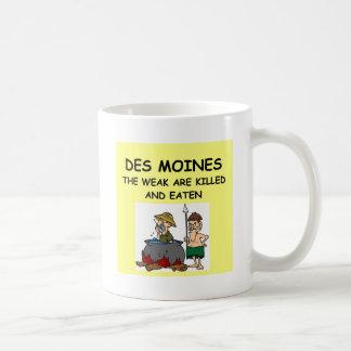 DES MOINES TAZAS DE CAFÉ