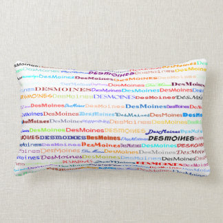 Des Moines Text Design II Lumbar Pillow