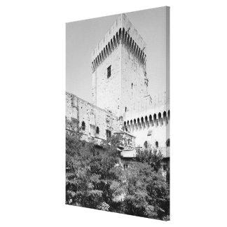 DES Papes, Palais Vieux de Palais de Benedicto XII Impresiones En Lona