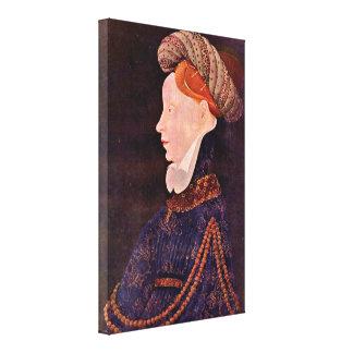 DES Prez - retrato de Josquin de una señora Impresión En Lona