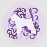 DES púrpura Flandres de Bouvier del remolino Pegatina