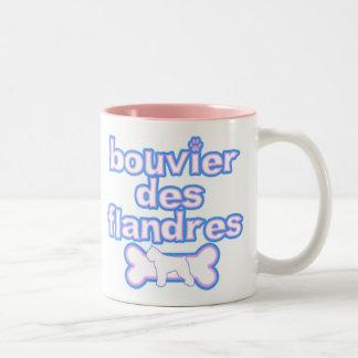 DES rosado y azul Flandres de Bouvier Taza Dos Tonos
