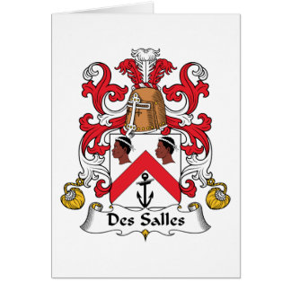 Des Salles Family Crest Greeting Card