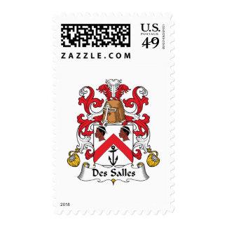 Des Salles Family Crest Postage Stamp