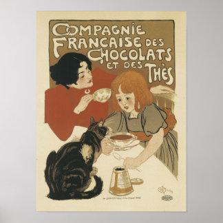 DES Thes del ed del DES Chocolats de Compagne Fran Posters