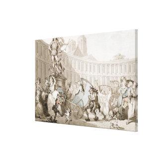 DES Victoires, París, c.1789 del lugar del La (plu Lienzo Envuelto Para Galerias
