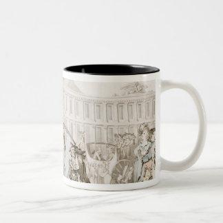 DES Victoires, París, c.1789 del lugar del La (plu Tazas De Café