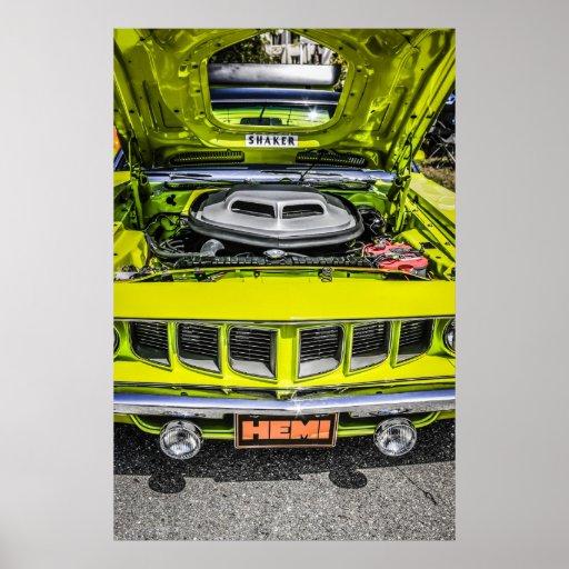 Desafiador de 1970 Dodge con un motor de Hemi de 7 Impresiones