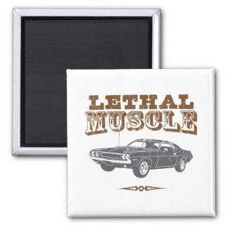 Desafiador de 1970 Dodge Hemi Imán Cuadrado