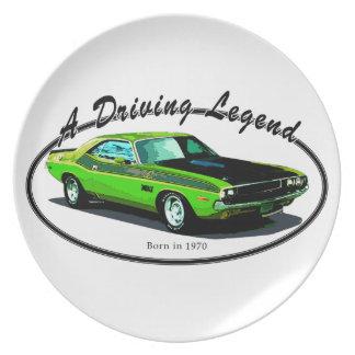 Desafiador de 1970 Dodge Platos De Comidas