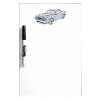 Desafiador de Dodge Pizarra Blanca