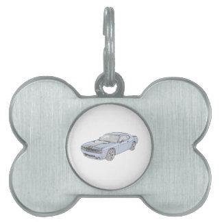 Desafiador de Dodge Placas Mascota