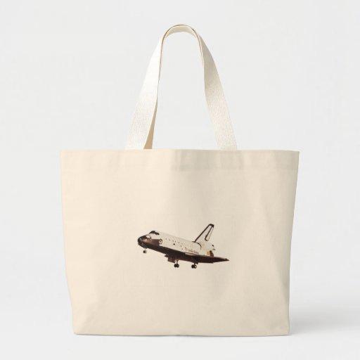 Desafiador del transbordador espacial bolsa lienzo