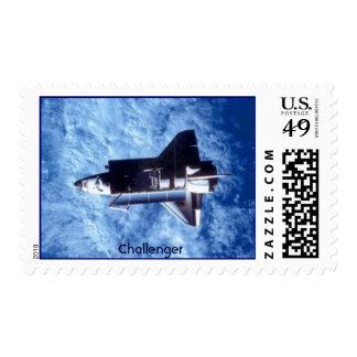 Desafiador del transbordador espacial timbres postales