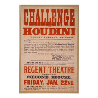 Desafío a Houdini - poster del vintage