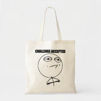 Desafío aceptado bolsa tela barata