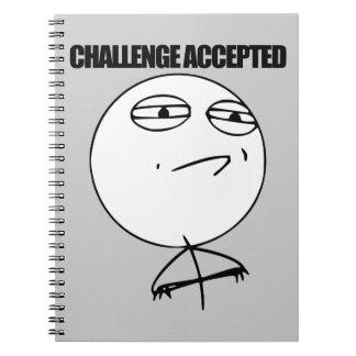 Desafío aceptado cuadernos