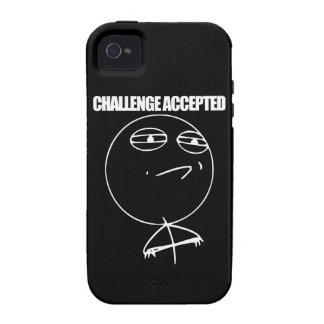 Desafío aceptado vibe iPhone 4 fundas
