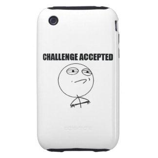 Desafío aceptado iPhone 3 tough carcasas