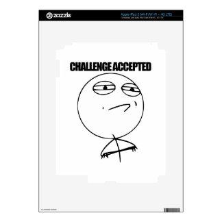 Desafío aceptado pegatinas skins para iPad 3