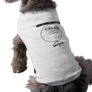 Desafío aceptado playera sin mangas para perro