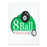 Desafío de 8 bolas invitación 12,7 x 17,8 cm