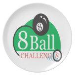 Desafío de 8 bolas plato