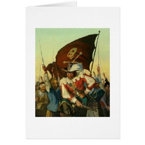 Desafío de los piratas: Coloqúese y entregue Tarjeta De Felicitación