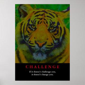 Desafío de motivación del tigre póster