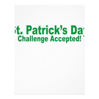 desafío del día de San Patricio aceptado
