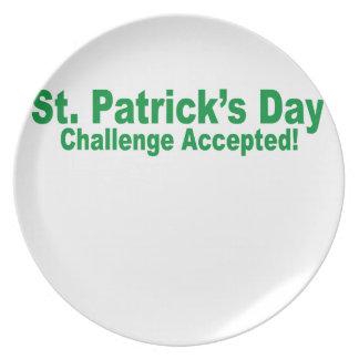 desafío del día de San Patricio aceptado Plato Para Fiesta