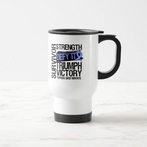 Desafio del esófago del superviviente del cáncer é tazas de café