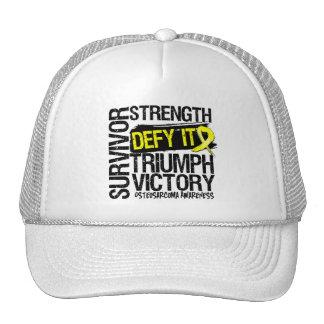 Desafio del superviviente del osteosarcoma él gorras de camionero